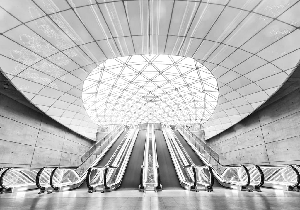 Poster: Triangeln Station - Architecture fascinates most people. Beautiful lines and shapes that has to...