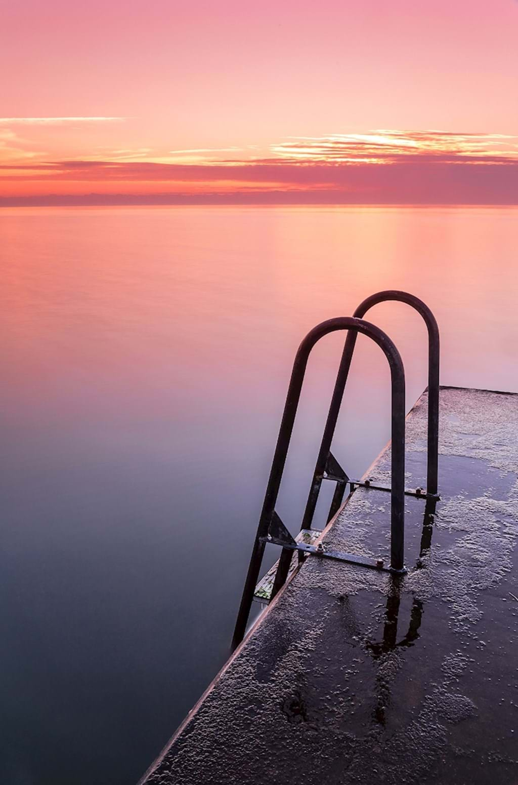 Poster: Sunset over the baltic sea - Nature