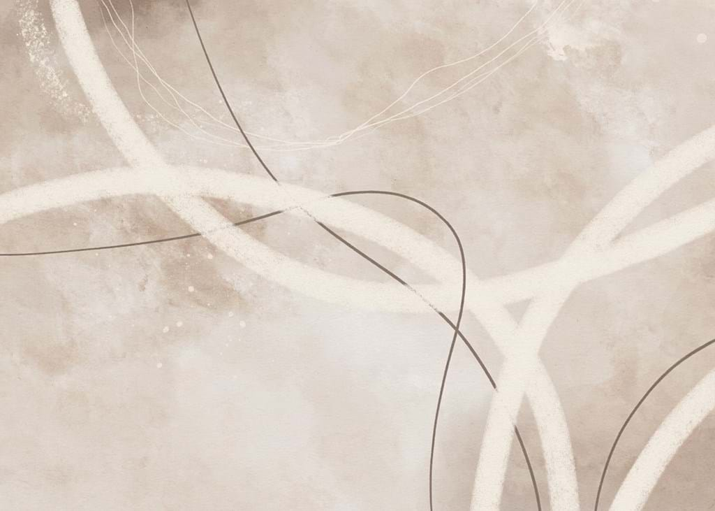 Poster: Abstract Lines Beige No1 - Digital