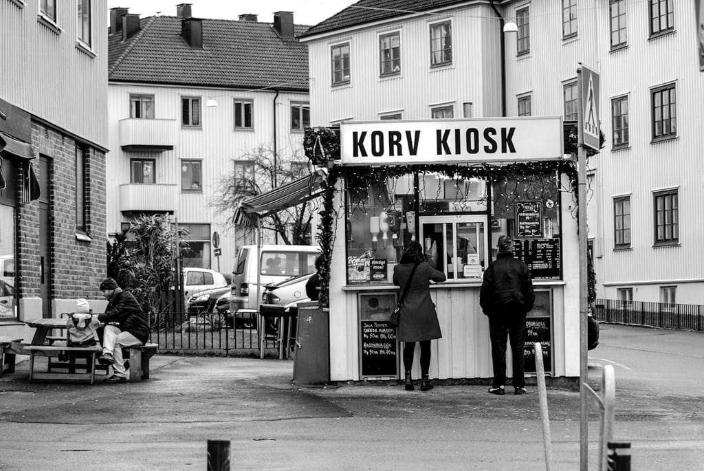 Poster: Korv Kiosk - We believe that this classical print is great for the kitchen. Either along...