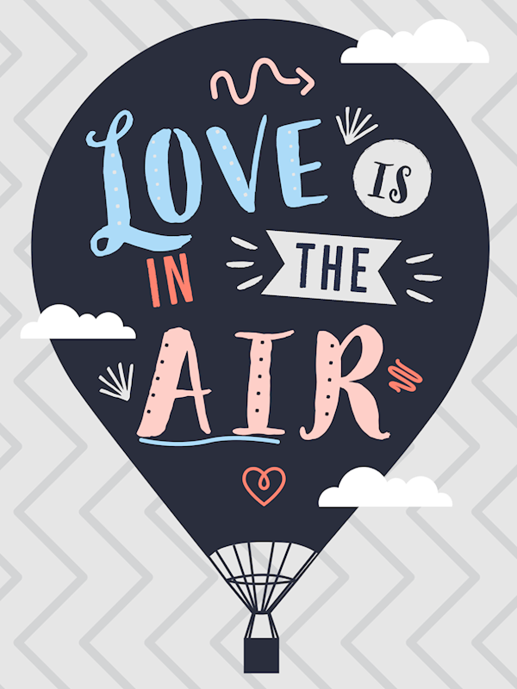 Poster: Love is in the air - Digital Art