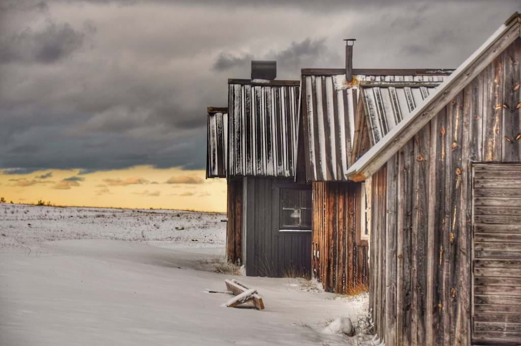 Poster: Old fishing sheds - Nature