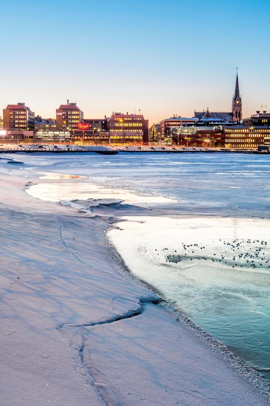 Poster: Luleå from the ice - Places & Cities
