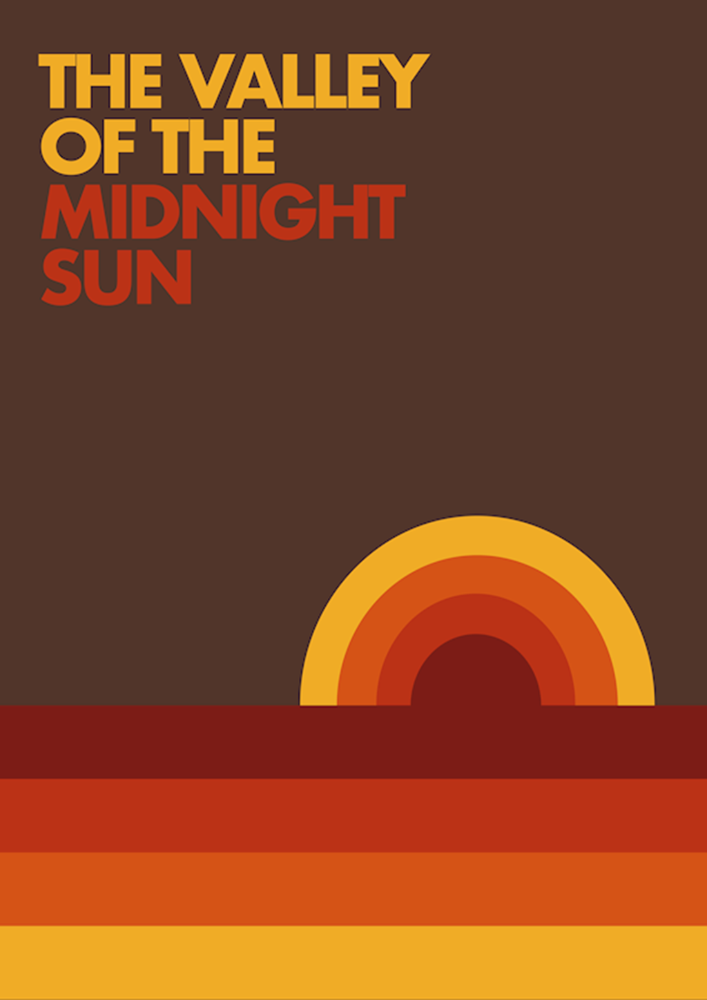 Poster: The valley of the midnight sun - Arkitektur & Design