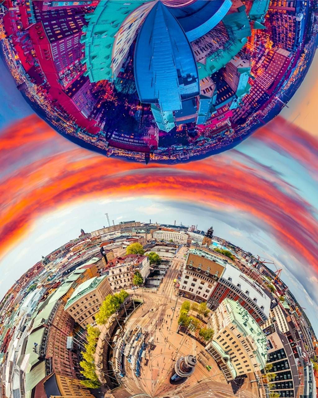 Poster: 2 world collides - Places & Cities