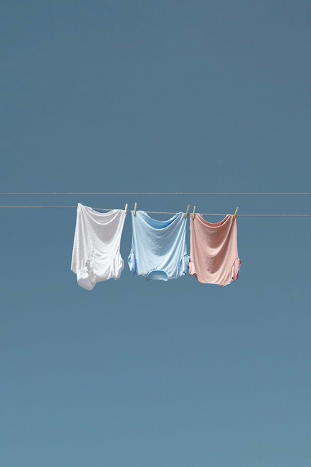 Poster: Laundry on a wire - Digital