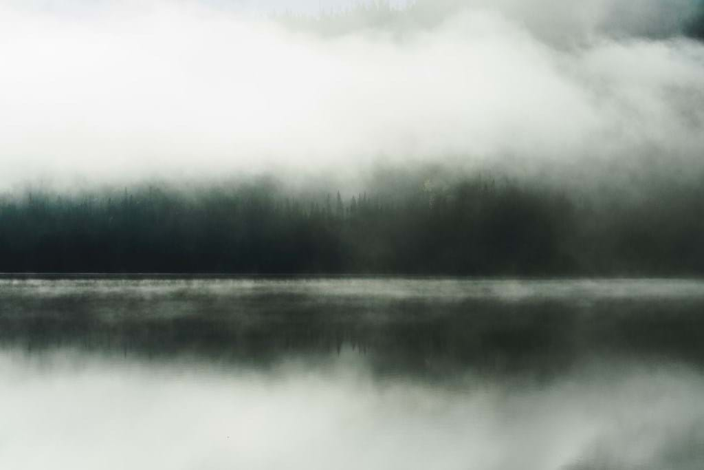 Poster: Losing You - Mysterious fog over the lake in northern Sweden.