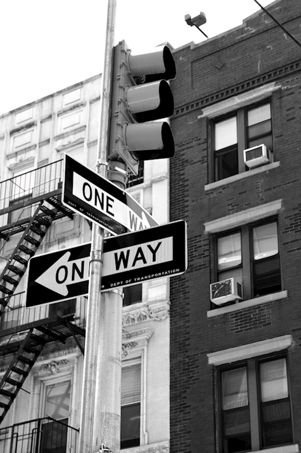 Poster: One way or another - Black & White