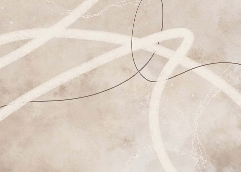 Poster: Abstract Lines Beige No2 - Digital