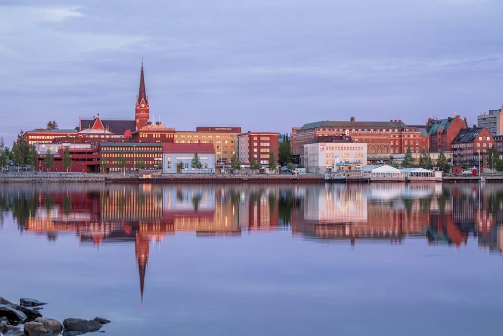 Poster: Midnight in Luleå, Sweden - Places & Cities