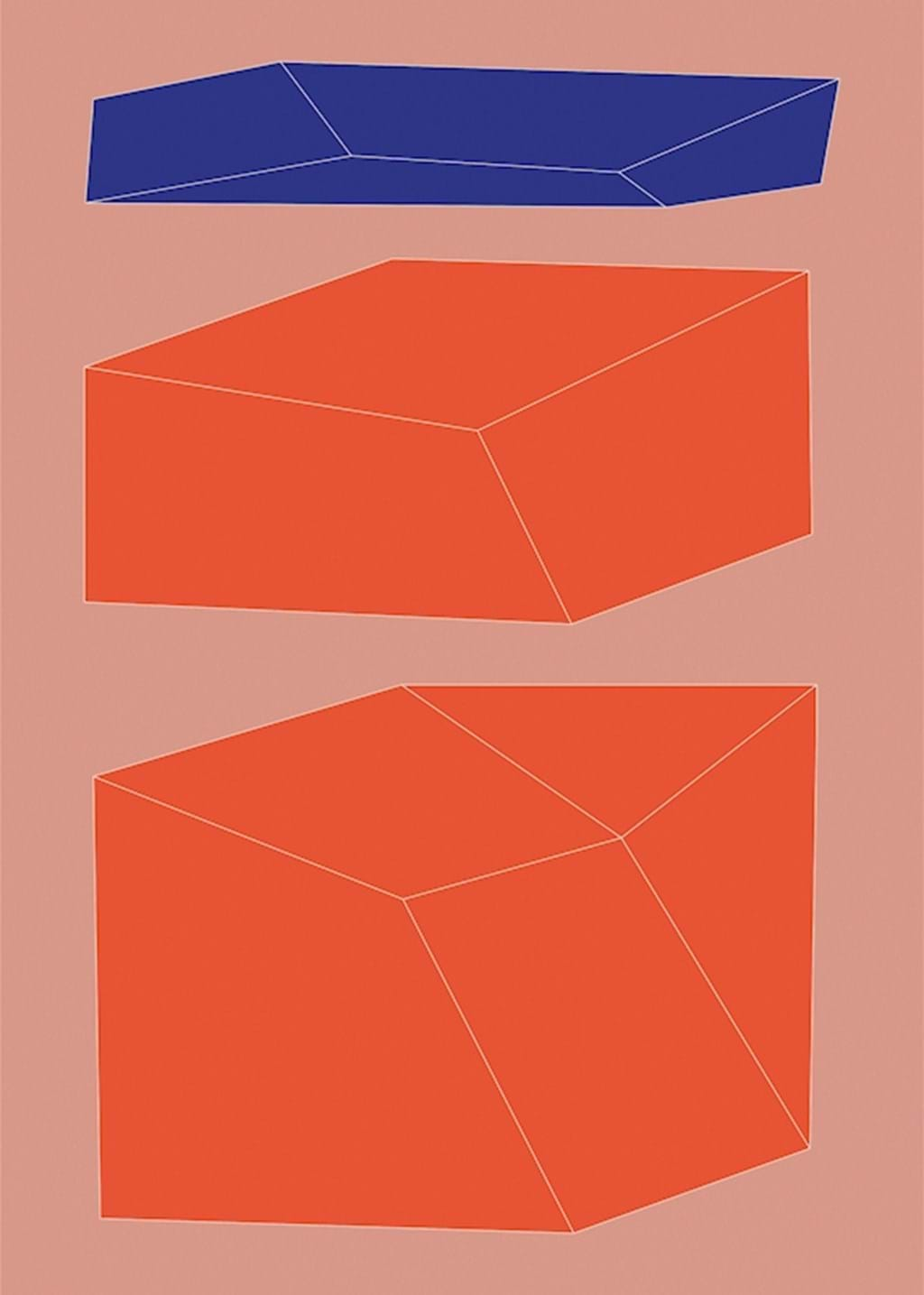 Poster: Minimal geometry No. 9 - Digital Art