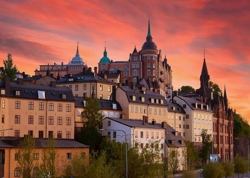 Poster: Stockholm sunset - Places & Cities
