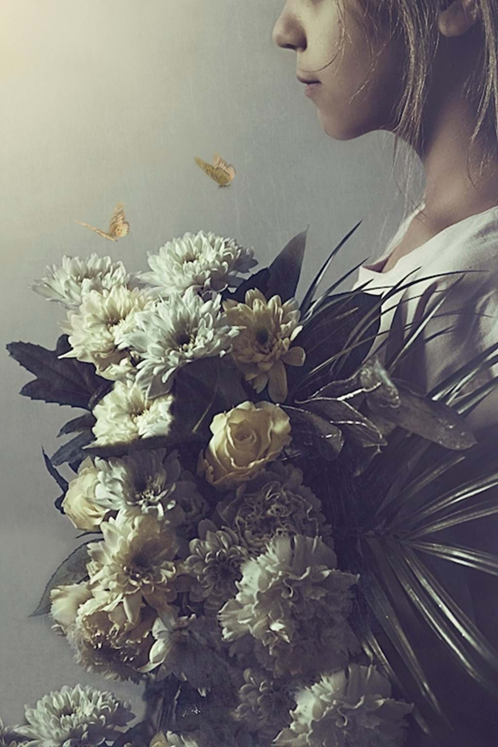 Poster: The girl with the bouquet - Digital