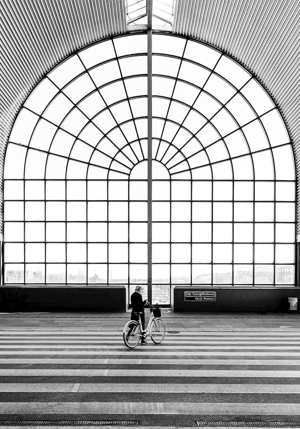 Poster: The Station - This awesome photo of the train station in Copenhagen will easily become on...