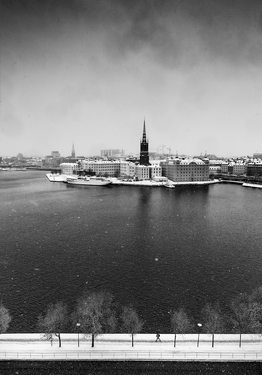 Snow Covered Stockholm BW posters & prints by Calle Artmark