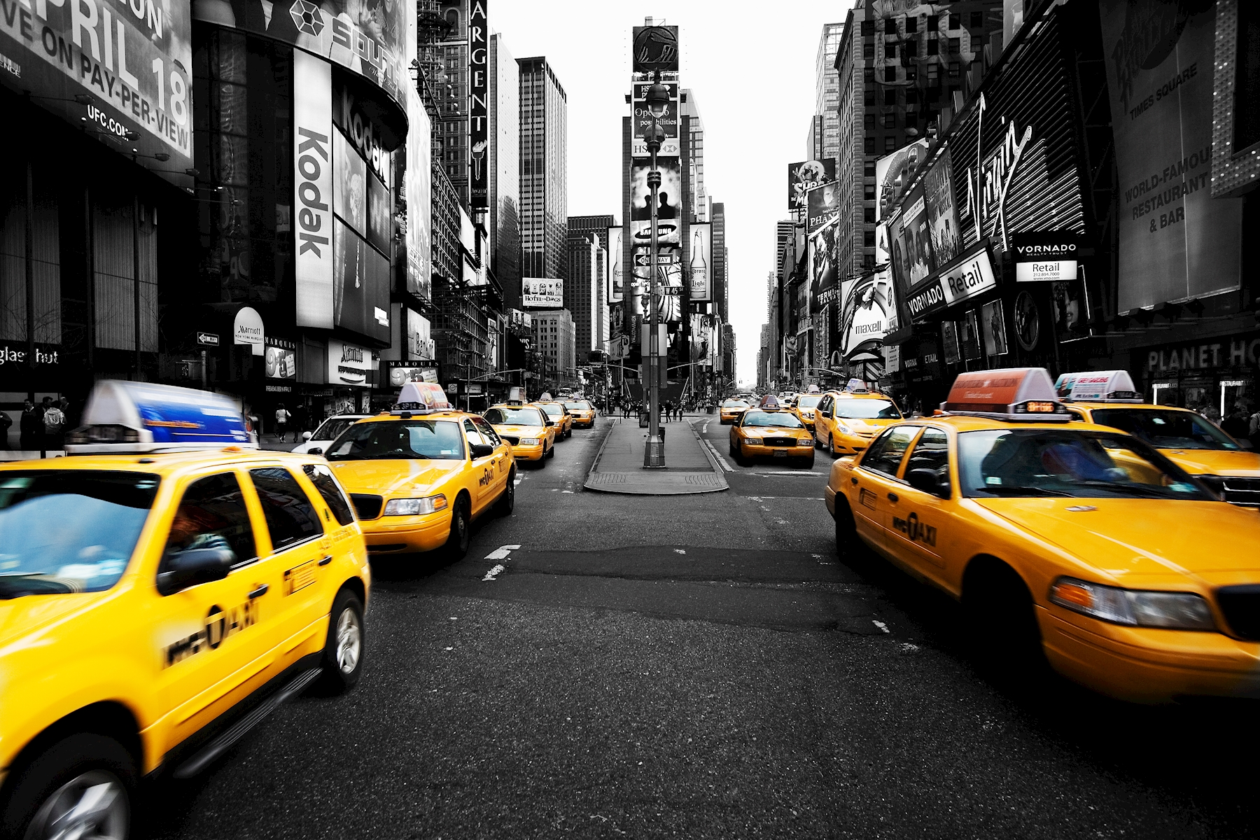 Times Square cabs New York posters & prints by mats lindkvist