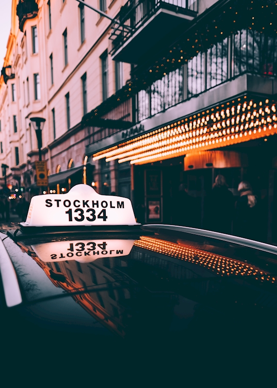 Taxi Mariatorget in Stockholm poster av Daniel Hedquist