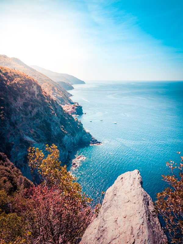 Coastline Of Cinque Terre posters & prints by Jens Wennerberg
