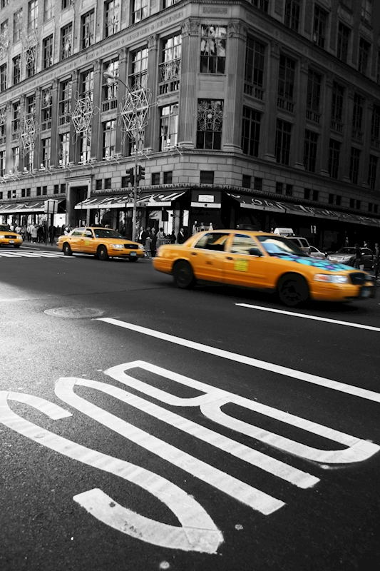 Taxi i New York poster av Lisa Korsár