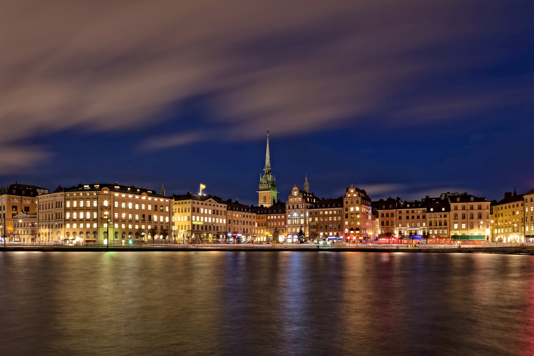 Stockholm Old Town at Night Poster von Kevin Cho