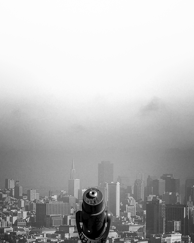 San Francisco in the fog posters & prints by Jenny E Olsson