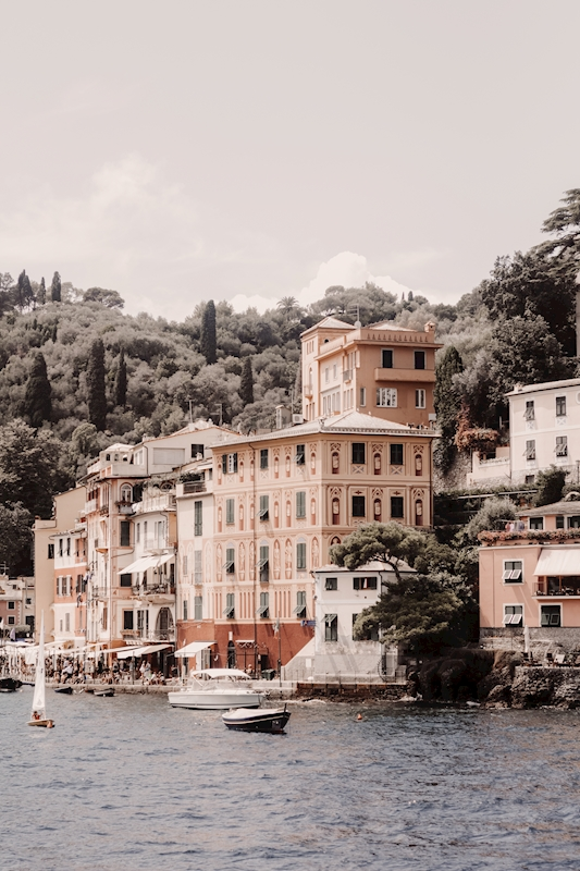 Portofino Harbour posters & prints by Elin Graf