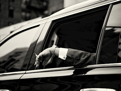 Smoker in limo