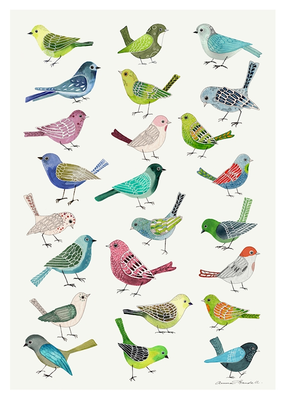 Singing Birds posters & prints by Anna Handell