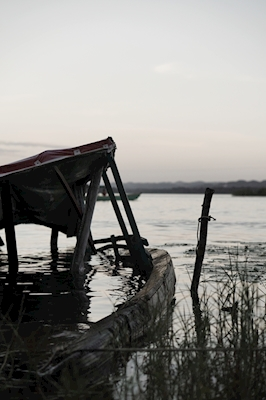 Drowned boat