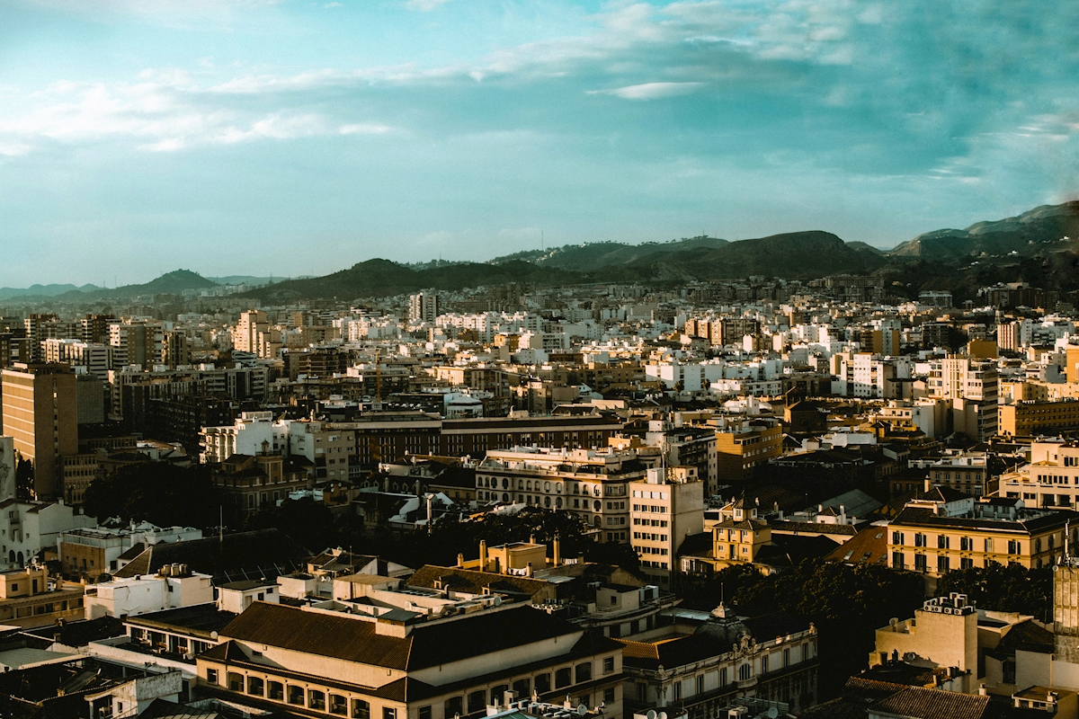 Rooftop view of Malaga Poster von Rudy Akram