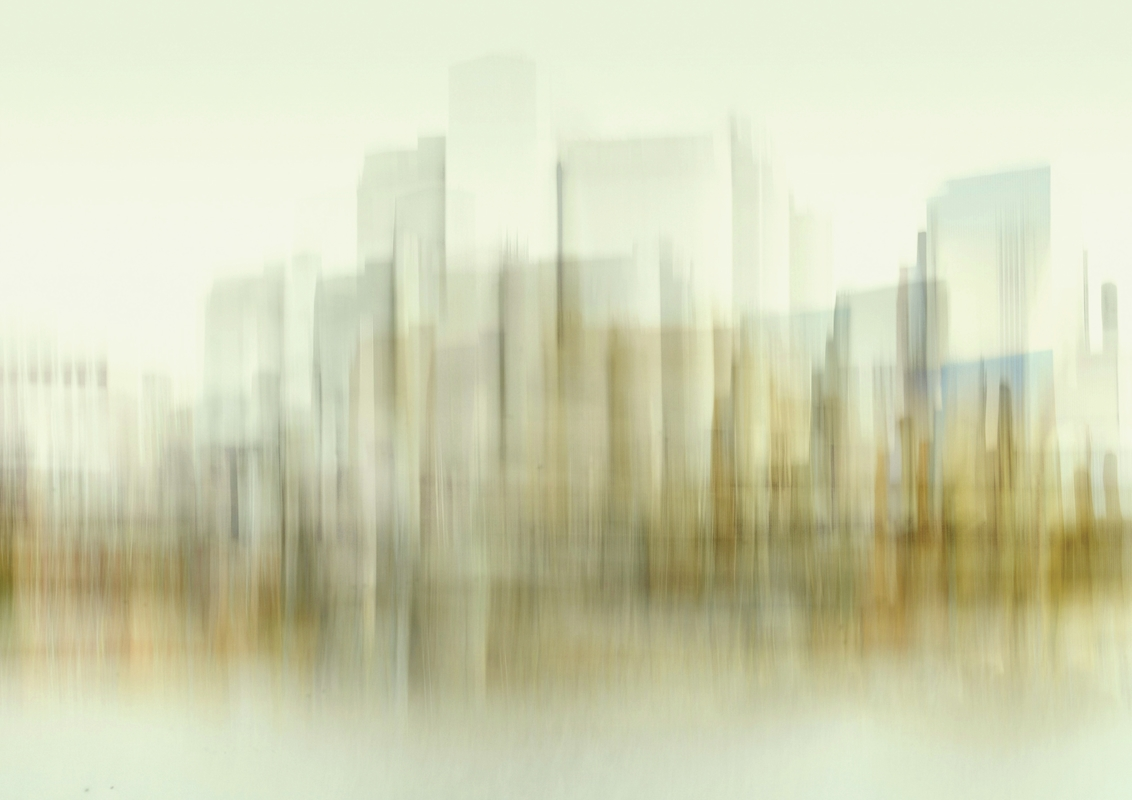 Transparent city poster av Christina Sillén