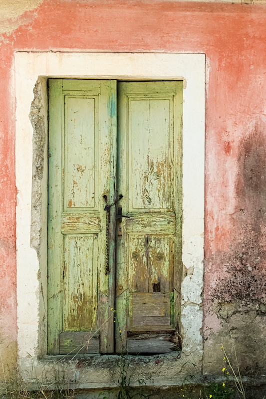 Green door, pastel posters & prints by Bodil Lindell