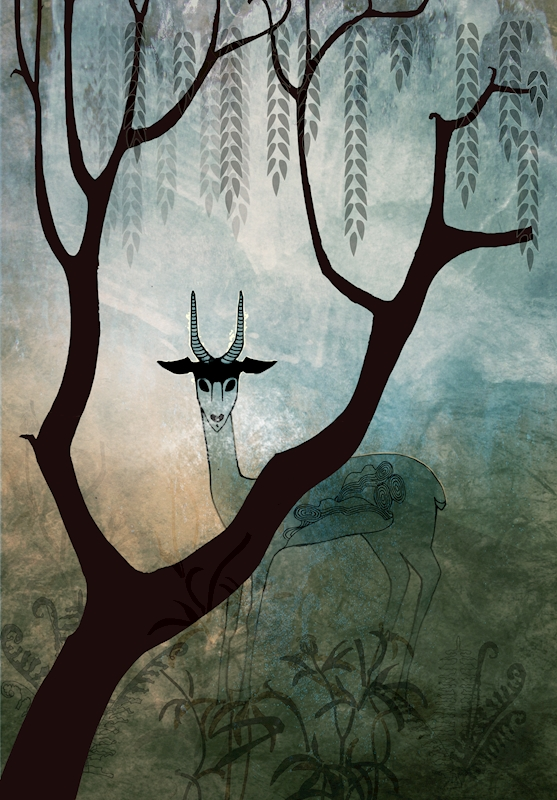 Forest Meeting II posters & prints by Anna Handell