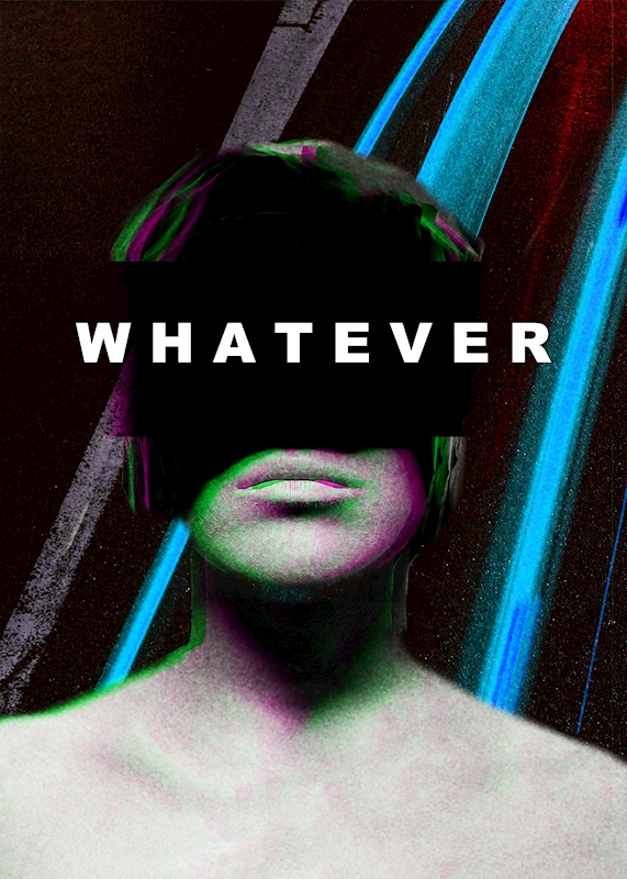 WHATEVER poster av Printler Charity Collab