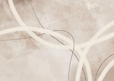 Abstract Lines Beige No1
