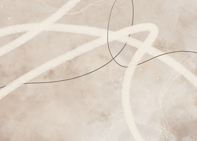 Abstract Lines Beige No2