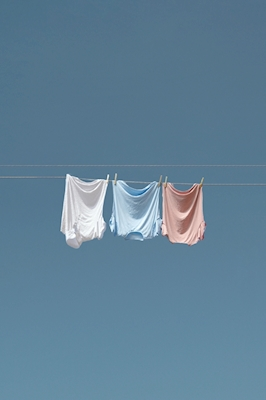 Laundry on a wire